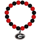 Siskiyou Buckle CFBB5 Georgia Bulldogs Fan Bead Bracelet