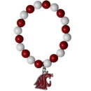 Siskiyou Buckle CFBB71 Washington St. Cougars Fan Bead Bracelet