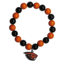 Siskiyou Buckle CFBB72 Oregon St. Beavers Fan Bead Bracelet