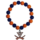 Siskiyou Buckle CFBB78 Virginia Cavaliers Fan Bead Bracelet