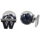 Siskiyou Buckle Washington Huskies Front/Back Earrings, CFBE49