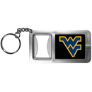 Siskiyou Buckle CFBK60 W. Virginia Mountaineers Flashlight Key Chain with Bottle Opener
