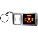 Siskiyou Buckle CFBK83 Iowa St. Cyclones Flashlight Key Chain with Bottle Opener