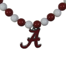 Siskiyou Buckle Alabama Crimson Tide Fan Bead Necklace, CFBN13