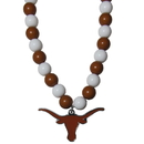 Siskiyou Buckle CFBN22 Texas Longhorns Fan Bead Necklace