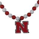 Siskiyou Buckle Nebraska Cornhuskers Fan Bead Necklace, CFBN3