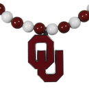 Siskiyou Buckle Oklahoma Sooners Fan Bead Necklace, CFBN48
