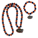 Siskiyou Buckle Florida Gators Fan Bead Necklace and Bracelet Set, CFBN4FBB