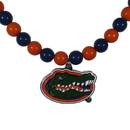 Siskiyou Buckle Florida Gators Fan Bead Necklace, CFBN4