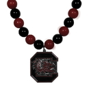 Siskiyou Buckle S. Carolina Gamecocks Fan Bead Necklace, CFBN63