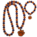 Siskiyou Buckle Clemson Tigers Fan Bead Necklace and Bracelet Set, CFBN69FBB