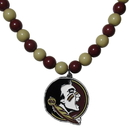 Siskiyou Buckle Florida St. Seminoles Fan Bead Necklace, CFBN7