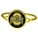 Siskiyou Buckle Ohio St. Buckeyes Gold Tone Bangle Bracelet, CGBB38