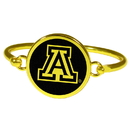 Siskiyou Buckle Arizona Wildcats Gold Tone Bangle Bracelet, CGBB54