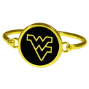 Siskiyou Buckle W. Virginia Mountaineers Gold Tone Bangle Bracelet, CGBB60
