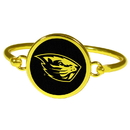Siskiyou Buckle Oregon St. Beavers Gold Tone Bangle Bracelet, CGBB72