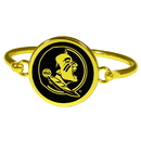 Siskiyou Buckle Florida St. Seminoles Gold Tone Bangle Bracelet, CGBB7