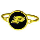 Siskiyou Buckle Purdue Boilermakers Gold Tone Bangle Bracelet, CGBB84