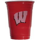 Siskiyou Buckle CGDC51 Wisconsin Badgers Plastic Game Day Cups