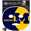Siskiyou Buckle Michigan Wolverines Game Face Temporary Tattoo, CGFD36