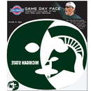 Siskiyou Buckle Michigan St. Spartans Game Face Temporary Tattoo, CGFD41