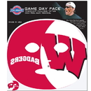 Siskiyou Buckle Wisconsin Badgers Game Face Temporary Tattoo, CGFD51