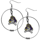 Siskiyou Buckle East Carolina Pirates 2 Inch Hoop Earrings, CHE102
