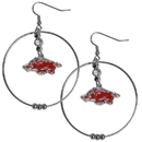 Siskiyou Buckle CHE12 Arkansas Razorbacks 2 Inch Hoop Earrings