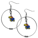 Siskiyou Buckle CHE21 Kansas Jayhawks 2 Inch Hoop Earrings