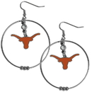 Siskiyou Buckle CHE22 Texas Longhorns 2 Inch Hoop Earrings