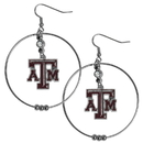 Siskiyou Buckle CHE26 Texas A & M Aggies 2 Inch Hoop Earrings