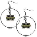 Siskiyou Buckle CHE36 Michigan Wolverines 2 Inch Hoop Earrings