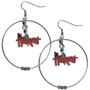 Siskiyou Buckle CHE3 Nebraska Cornhuskers 2 Inch Hoop Earrings