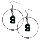 Siskiyou Buckle CHE41 Michigan St. Spartans 2 Inch Hoop Earrings