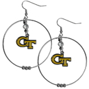 Siskiyou Buckle CHE44 Georgia Tech Yellow Jackets 2 Inch Hoop Earrings