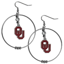Siskiyou Buckle CHE48 Oklahoma Sooners 2 Inch Hoop Earrings