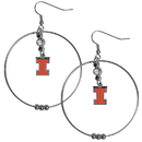 Siskiyou Buckle CHE55 Illinois Fighting Illini 2 Inch Hoop Earrings
