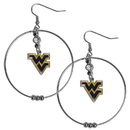 Siskiyou Buckle CHE60 W. Virginia Mountaineers 2 Inch Hoop Earrings