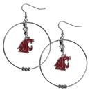 Siskiyou Buckle CHE71 Washington St. Cougars 2 Inch Hoop Earrings