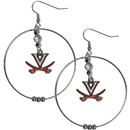 Siskiyou Buckle CHE78 Virginia Cavaliers 2 Inch Hoop Earrings