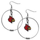 Siskiyou Buckle CHE88 Louisville Cardinals 2 Inch Hoop Earrings