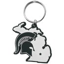 Siskiyou Buckle Michigan St. Spartans Home State Flexi Key Chain, CHPK41