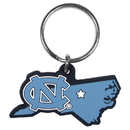 Siskiyou Buckle N. Carolina Tar Heels Home State Flexi Key Chain, CHPK9
