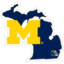 Siskiyou Buckle Michigan Wolverines Home State Decal, CHSD36