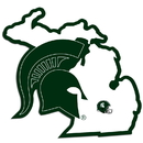 Siskiyou Buckle Michigan St. Spartans Home State Decal, CHSD41