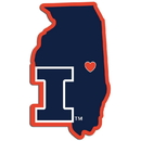 Siskiyou Buckle CHSD55 Illinois Fighting Illini Home State Decal