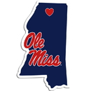 Siskiyou Buckle Mississippi Rebels Home State Decal, CHSD59