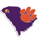 Siskiyou Buckle Clemson Tigers Home State Decal, CHSD69