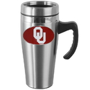 Siskiyou Buckle CHTM48 Oklahoma Sooners Steel Travel Mug w/Handle