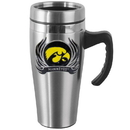 Siskiyou Buckle CHTM52F Iowa Hawkeyes Steel Travel Mug w/Handle